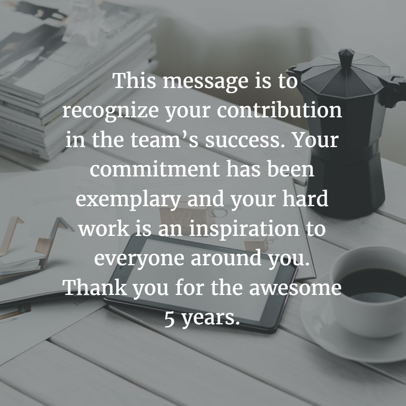 28 Best Work Anniversary Quotes For 5 Years