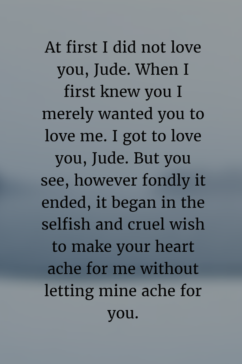 Return To Love Quotes 20 Best Quotes From Jude The Obscure  Enkiquotes