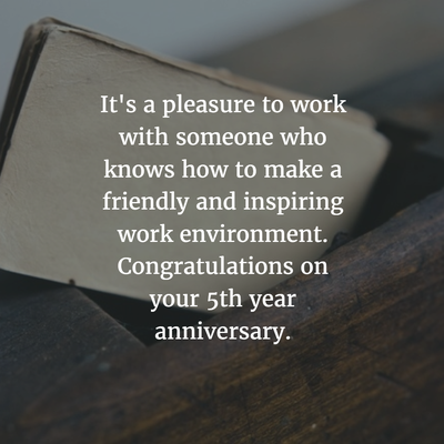 28 Best Work Anniversary Quotes For 5 Years Enkiquotes