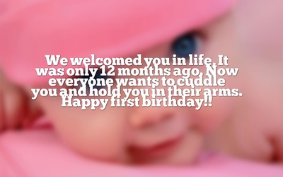 47741b9da Sweet and Meaningful Baby Girl Turns One Quotes - EnkiQuotes