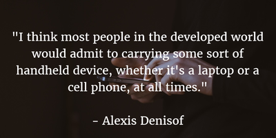 Living In A Smart Phone World Quotes About Cell Phones Addiction