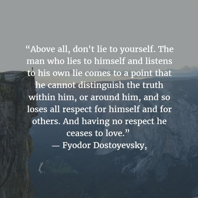 Top 27 Quotes About Lying To Yourself Enkiquotes