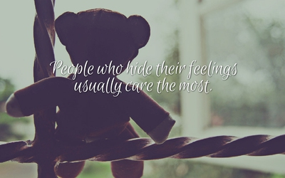 24 Enlightening Quotes About Hiding Emotions Enkiquotes