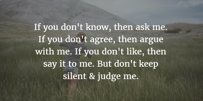 Quotes Sayings To Express Not Judge Me Enkiquotes