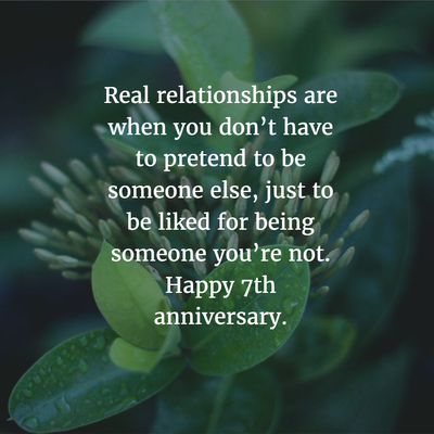 7 Year Anniversary Quotes For The Couples Who Made It Through
