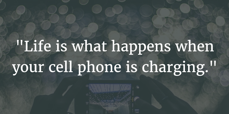 Addiction Quotes Amusing Living In A Smart Phone World Quotes About Cell Phones Addiction