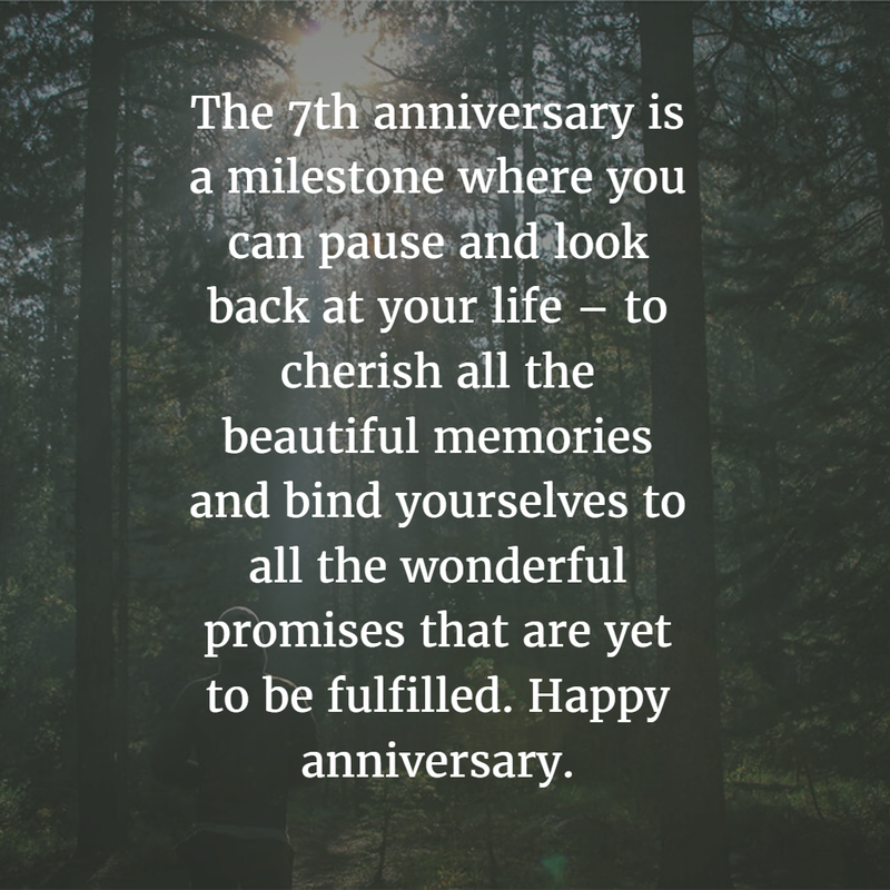 7th year wedding anniversary quotes