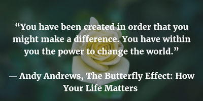 We Are All Connected Butterfly Effect Quote Enkiquotes