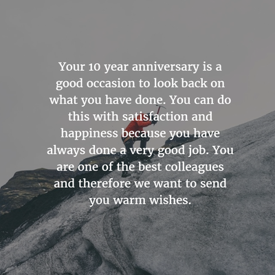 New Quotes For One Year Work Anniversary