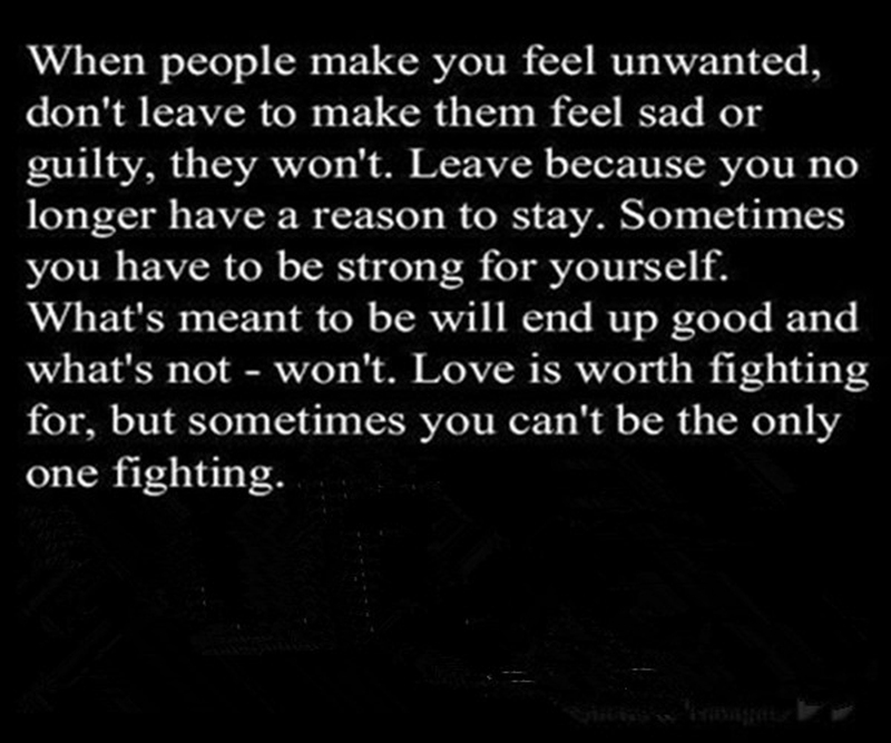 Let Them Leave Its Not Your Duty To Fight For Love 7 Are You Feeling Better
