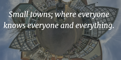 Quotes About Small Towns People Will Agree With - EnkiQuotes
