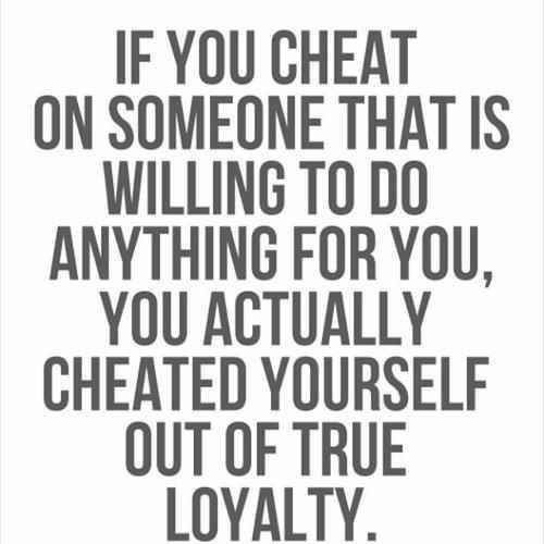 what is cheating on someone