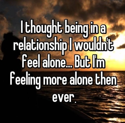 what to do when your lonely in a relationship