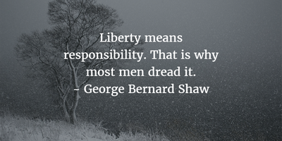 liberty means responsibility
