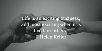 Words of wisdom and inspiration helen keller quotes enkiquotes everyone lives for himself make a difference and live for others one of the helen keller quotes about having a big heart altavistaventures Image collections