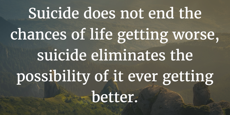 Anti Suicide Quotes Classy Suicide Prevention Quotes Worth Remembering And Sharing  Enkiquotes
