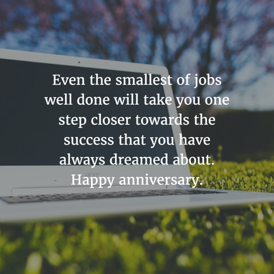 28 Best Work Anniversary Quotes for 5 Years - EnkiQuotes