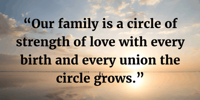 family grows with the constant love and care