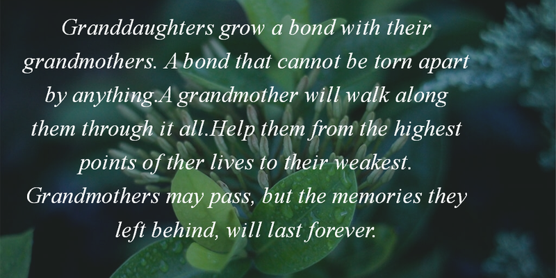 Bond Quotes Alluring Grandmother And Granddaughter Quotes For The Special Bond  Enkiquotes
