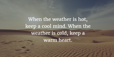 25 Hot Weather Quotes To Help You Relax Enkiquotes