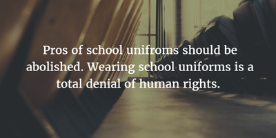 Quotes About School Uniforms to Make You Think - EnkiQuotes