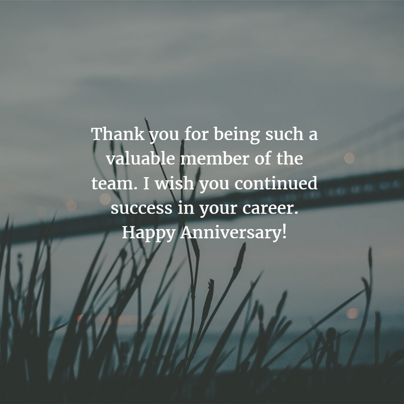 Work Anniversary Quotes for 10 Years - EnkiQuotes