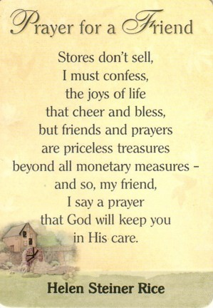 Heart Warming Prayer Quotes For A Friend Enkiquotes