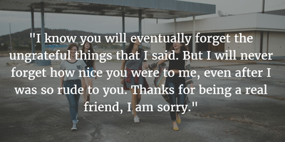 Quotes About Sorry for Friends