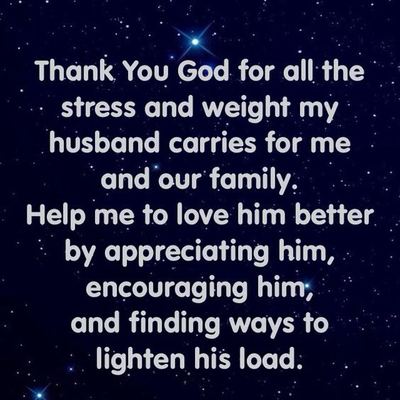 words of love and appreciation to my husband