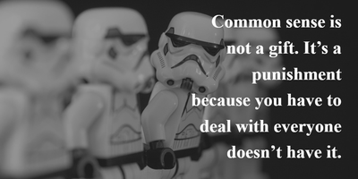 25 Humorous Common Sense Quotes - EnkiQuotes