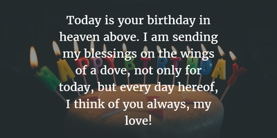30 Sweet Birthday Quotes For Dead Husband