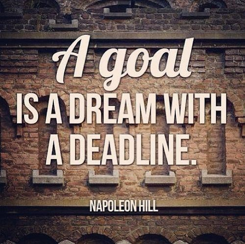 Quotes About Deadlines And Their Importance In Achieving Goals - Quotes about achieving goals and dreams