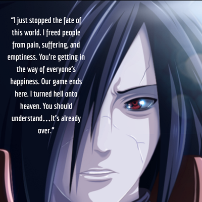 The Most Vivid Madara Uchiha Quotes To His Fans Enkiquotes